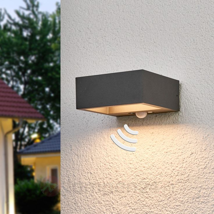 Sensor-LED-buitenwandlamp Mahra, op zonne-energie 9619074