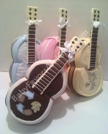 Guitar diaper cakes - unique diaper cakes from BabyFavorsAndGifts.com