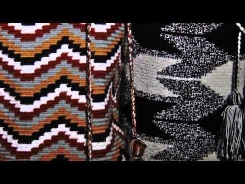 Mochilas Wayúu de Diseño con patrones y figuras geométricas. Explicación por Wayúu de Colombia. - YouTube