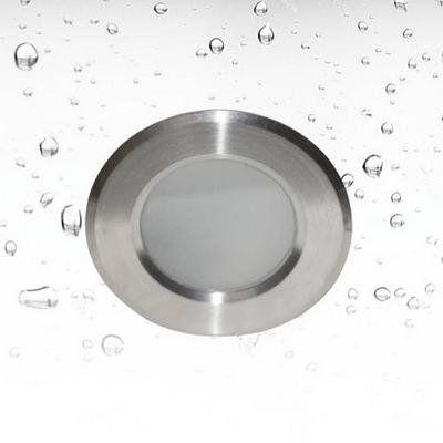 Inbouwspot waterdicht rond inox diameter 85mm GU10