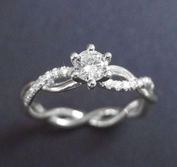 Infinity Knot Diamond Engagement Ring Infinity by Benati on Etsy