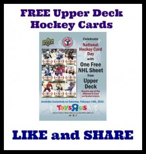 Free Upper Deck Cards At Toys R Us!!