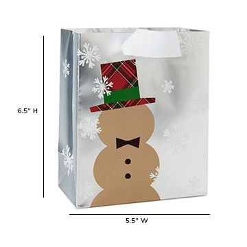 This embellished Kraft #Snowman #giftbag is as festive as they come—it's sure to stand out among the others! http://bit.ly/2gqL27O