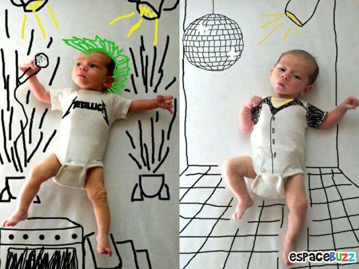 Mettre en scène son bébé de façon très originale.
