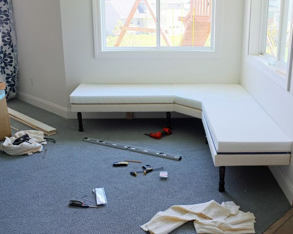 using an ikea foam mattress for diy furniture padding
