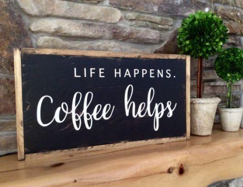 yourcoffeeguru: Wood Coffee Sign // NanaNewHandmade