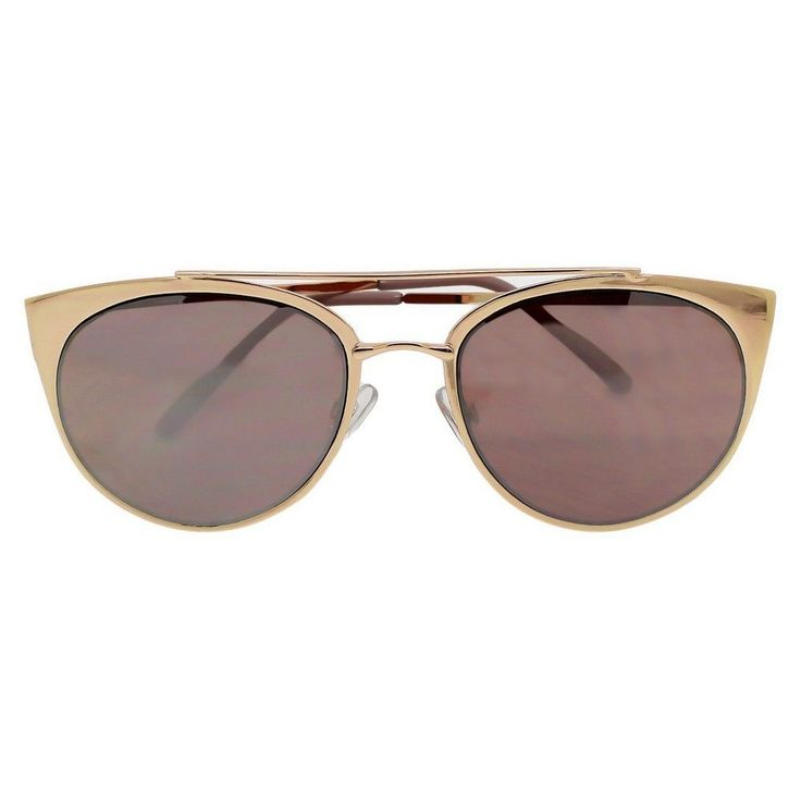 Women's Aviator Sunglasses - Rosegold Mirror, Rose Gold