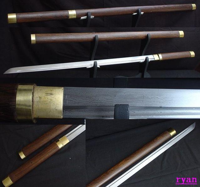 Hand Forged Folded Steel Japanese Samurai Shirasaya Ninja Sword Sharp Edge