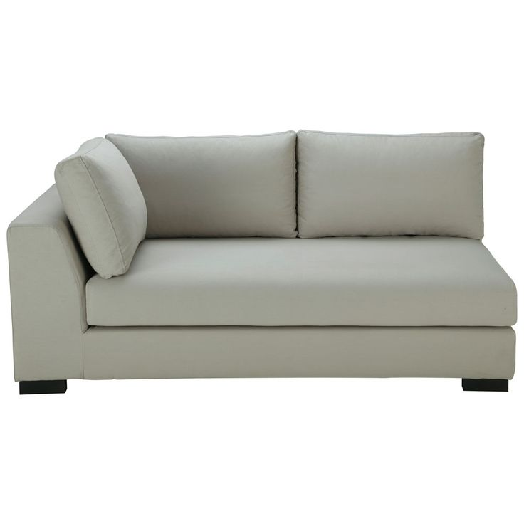 Canap manchot gauche convertible coton gris clair terence salon pinteres - Sofa canape difference ...