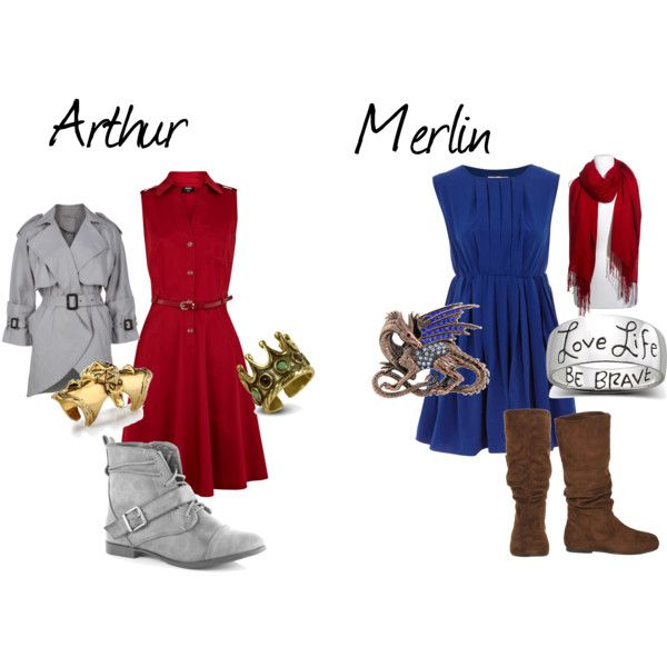 """Arthur And Merlin"" by sobukhov on Polyvore - this is definitely #Kaylie style. For the record, Kayla is Arthur and I'm Merlin."