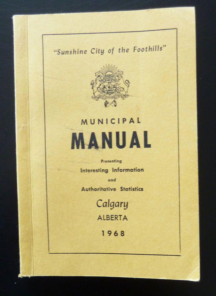 City Calgary Municipal Manual 1968 Historical Statistics Churches Schools Births | eBay