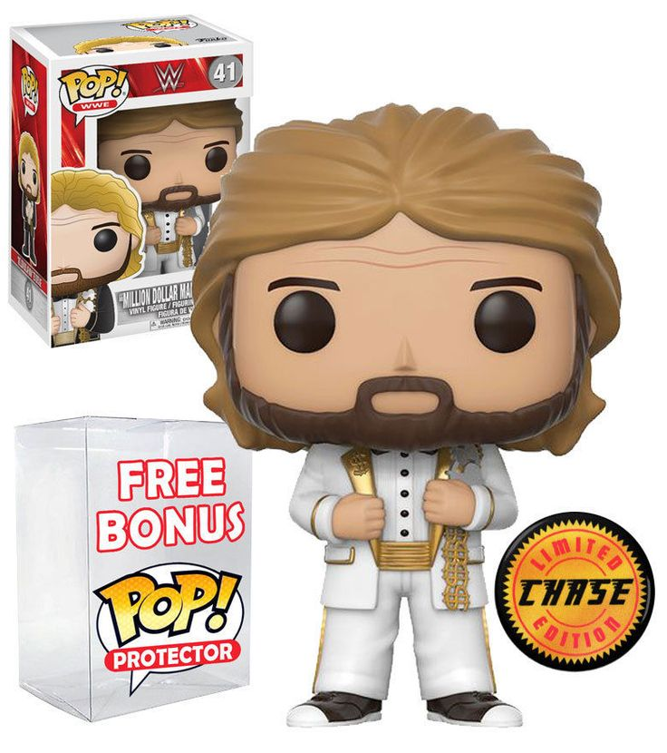 Funko POP! WWE #41 Million Dollar Man Ted DiBiase. New, Mint, CHASE, RARE. Includes FREE POP Protector! #FunkoPop #WWE #Collectibles