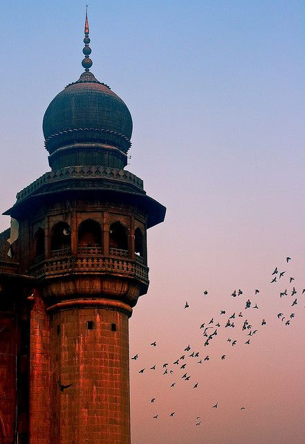✯ Mecca Masjid Hyderabad:Started in the early 17th century by Quli Qutb Shah and completed by Aurangazeb some seventy odd years later. It is called the Mecca Masjid because earth brought from Mecca was used in constructing its main arch .. by Pramodmamidi2✯