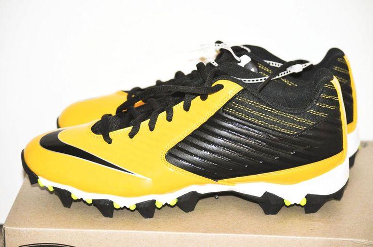 Nike Men Vapor Shark Football Cleats Yellow & Black size 9 D  643162-007 NEW #Nike