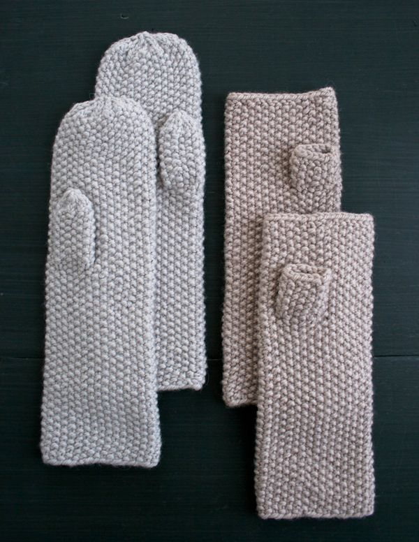Whits Knits: Seed Stitch Mittens and Hand Warmers - the purl bee