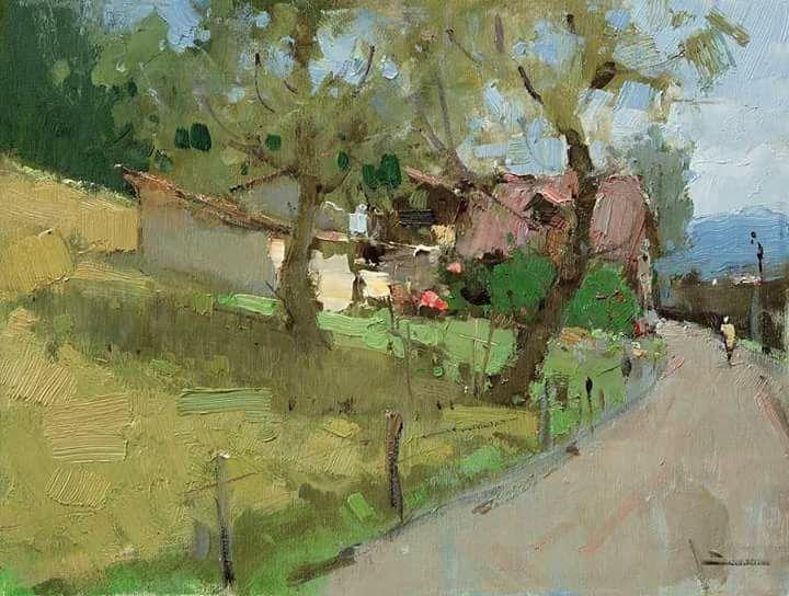 Slava Korolenkov Contemporary Landscape Painting Russian Landscape Oil Painting Landscape
