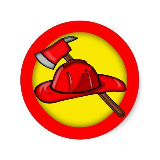 Kids Firemen T-shirts and Kids Firemen Gifts Classic Round Sticker