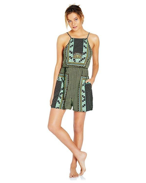 5fb34af61a86 Tigerlily Dalmatia Playsuit Romper Size 6-8 Green Brown Sleeveless Boho  Womens  fashion  clothing  shoes  accessories  womensclothing   jumpsuitsrompers ...