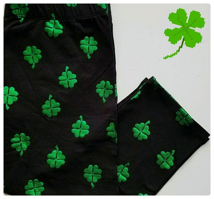 No Boundries Shamrock Leggings SMALL Womens Premium St Patricks Day Clover NWT #NoBoundaries #Footless #Casual