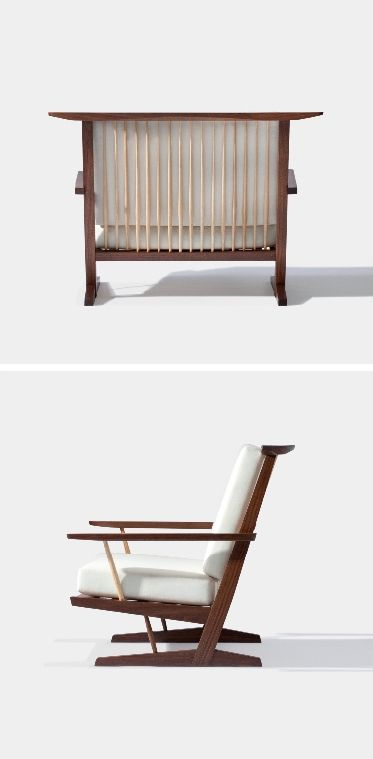 GEORGE NAKASHIMA, Conoid Loveseat, ca.1961/2011. Specially manufactured wider model from the original Conoid lounge chair. / George Nakashim...