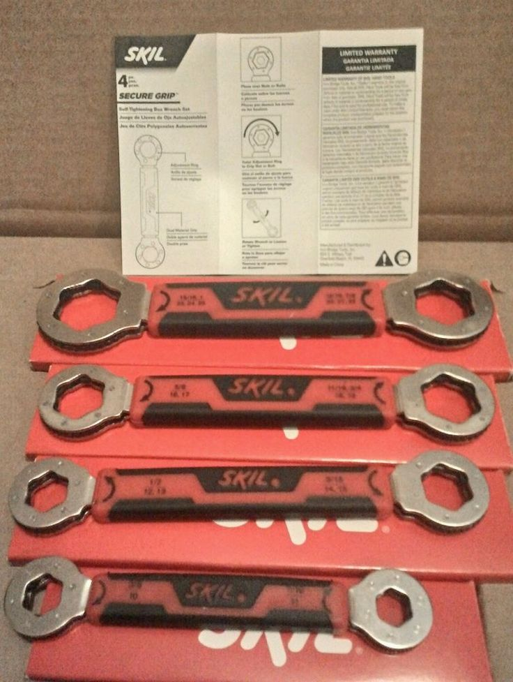 NEW!! SKIL SECURE GRIP 4 PIECE SELF-TIGHTENING BOX WRENCH SET in Home & Garden, Tools, Hand Tools | eBay