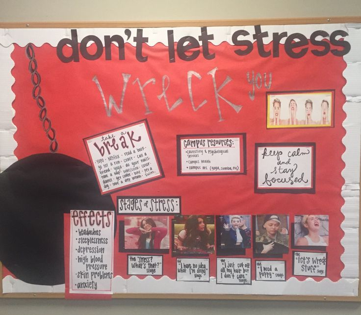 "dancersydney5: ""Miley Cyrus wrecking ball themed bulletin board on stress for…"