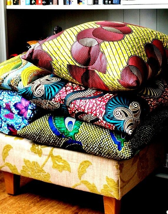 MIX and Match African Wax Print three large covers by SISTERBATIK