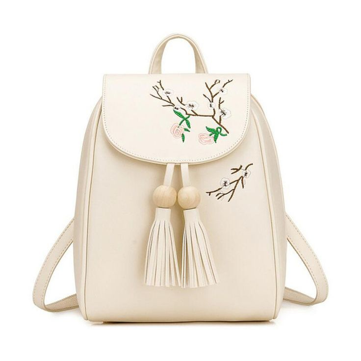 Korean Women 2017 Fashion Floral Leather Backpack and Bags Print Black Green Backpacks school for teenage girls;mochila negra #Affiliate
