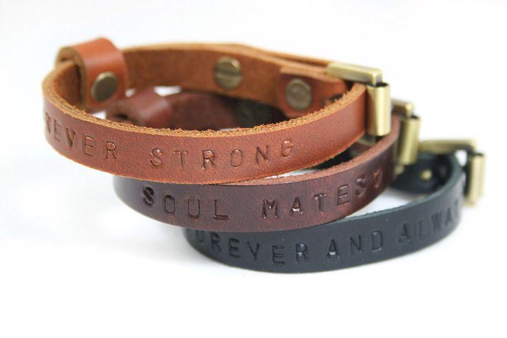 2x his hers matching bracelet bracelet leather