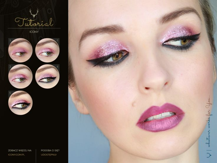 Black & Pink #tutorial #makeup #blogicony