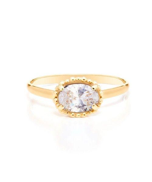 Anel em Ouro Amarelo 18K com Cristal de quartzo - Chance - montecarlo