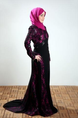 Elegant dress, made from lace with nice feminine design, its color combination gives you a royal look.  #dress #hijabstyle #hijabfashion #islamicfashion #hijab