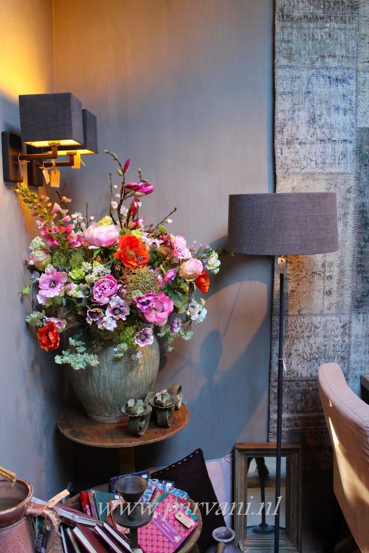 Kleurrijk zijdebloemen