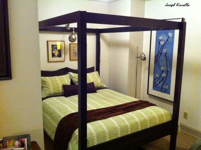 Canopy Bed from Stora loft bed- IKEA Hackers. Note this only works for a full size bed. But gorgeous hack!