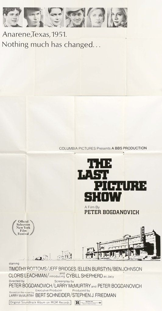 Last Picture Show (1971) Original Three Sheet Movie Poster