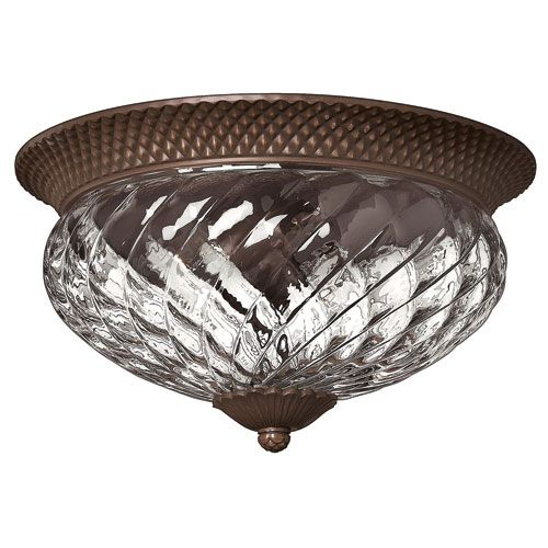 Plantation Copper Bronze Flush Mount Ceiling Light Hinkley Flush Mount Flush & Semi Flush