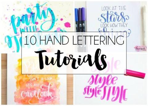 10+ Hand Lettering Tutorials | dawnnicoledesigns.com