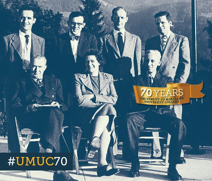 #ThrowbackThursday to October 1949 with our first faculty members sent to teach in the European program. #umuc70