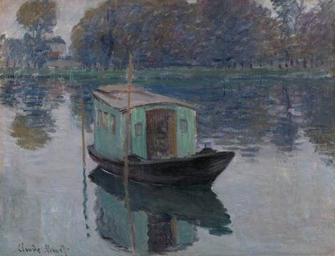 Claude Monet, The Studio Boat, 1874 on ArtStack #claude-monet #art