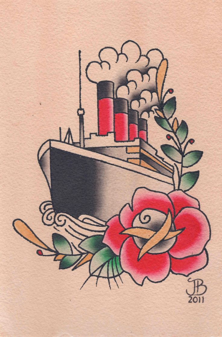 Titanic tattoo I would never get this but I do love it.
