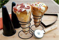 Pizza en cono... :)