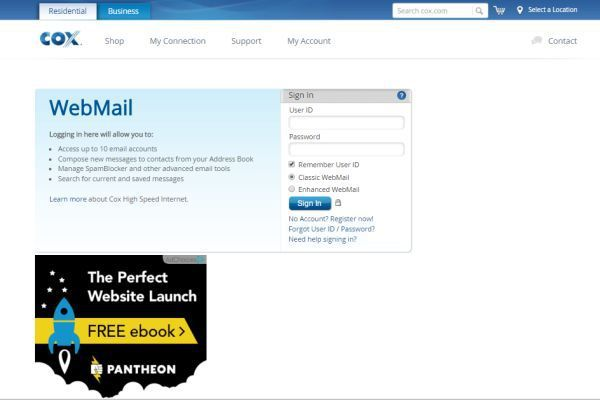 Cox Communications Webmail login to access your account