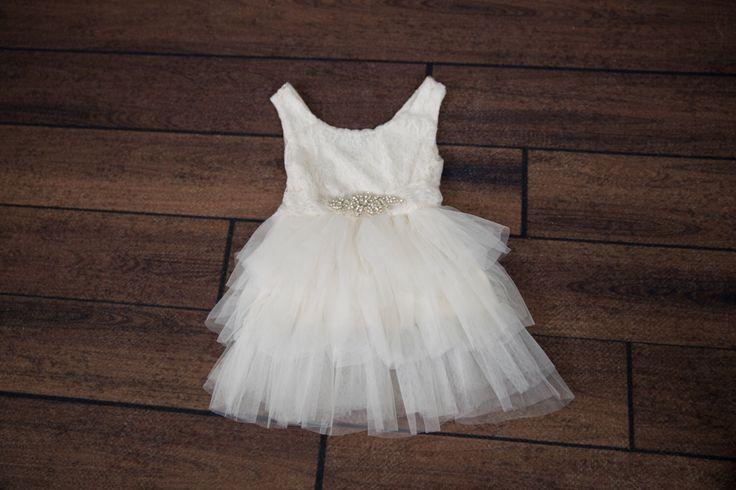White Tulle Flower Girl Dress, Rhinestone Belt, Wedding dress, White Wedding, Tutu Dress, Boho Chic, Country Couture Style, Cowboy Wedding by NicolettesCouture on Etsy https://www.etsy.com/listing/398623805/white-tulle-flower-girl-dress-rhinestone
