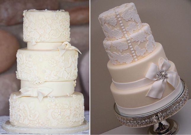 {Wedding Trends} : Lace Cakes  | bellethemagazine.com