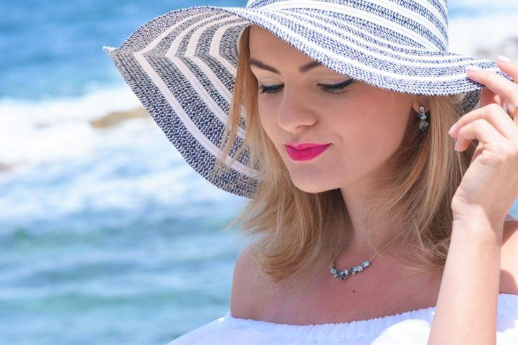Malta, Bugibba, fashion, style, look, moda, biżuteria W.KRUK, jewellery, kapelusz, hut