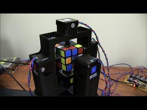 World's Fastest Rubik's Cube Solving Robot - YouTube