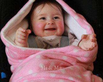 Asiento con manta, manta de asiento de coche, rosa con manta de lana de punto blanco, super suave, manta de invierno, abrigo acogedor de coche, acogedor de los pies,