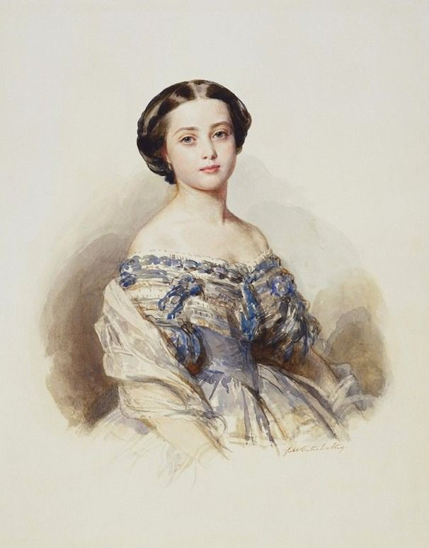 1855 Princess Royal Victoria by Franz Xaver Winterhalter (Royal Collection) | Grand Ladies | gogm