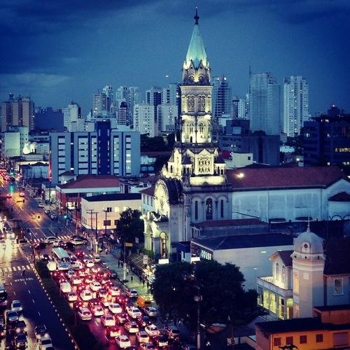 Sao Paulo at Night (view from Domingos de Morais Street)  Brazil