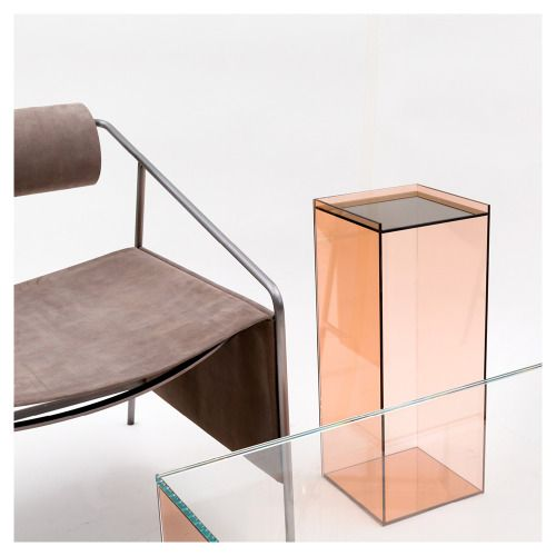 Farrah Sit + Chiyome - Artic Smoke chair and Desert Mirror...